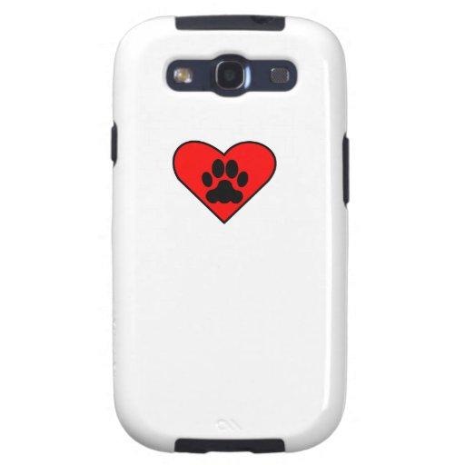 Corazón del perro samsung galaxy SIII funda