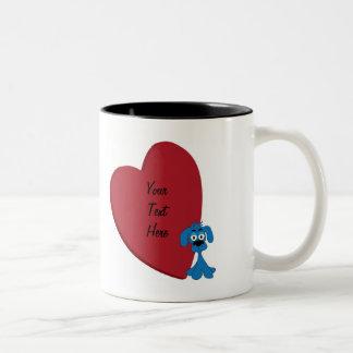 Corazón del perro taza de café