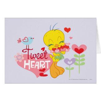 Corazón del pío tarjeta de felicitación