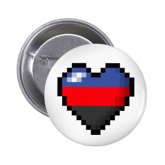 Corazón del pixel de Polyamorous Pin Redondo 5 Cm