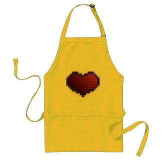 Corazón del pixel delantal