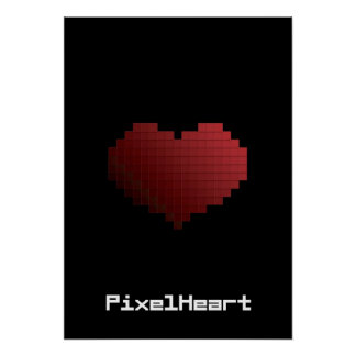 Corazón del pixel impresiones