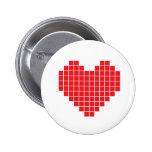 Corazón del pixel pins