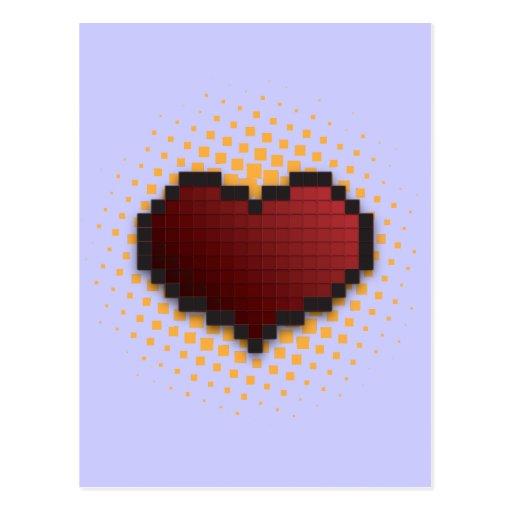 Corazón del pixel postal
