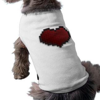 Corazón del pixel camisa de mascota