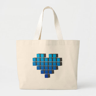 Corazón del pixel - vida de los pixeles de los vid bolsa tela grande