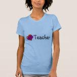 Corazón del profesor camisetas