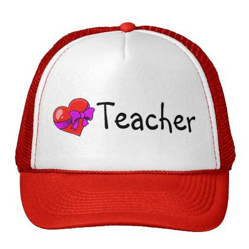 Corazón del profesor gorras de camionero
