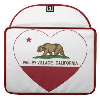corazón del pueblo del valle de la bandera de Cali Funda Para Macbook Pro