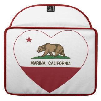 corazón del puerto deportivo de la bandera de Cali Funda Para Macbook Pro