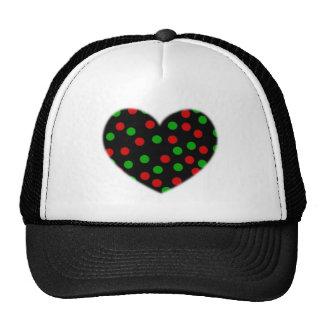 Corazón del punto gorra