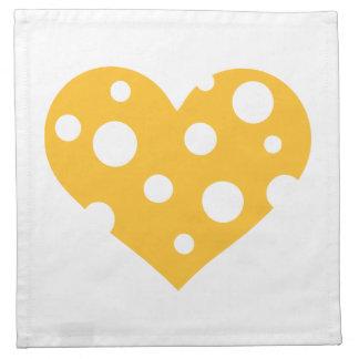 Corazón del queso servilletas de papel