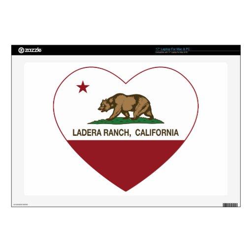 corazón del rancho del ladera de la bandera de Cal Portátil 43,2cm Skin