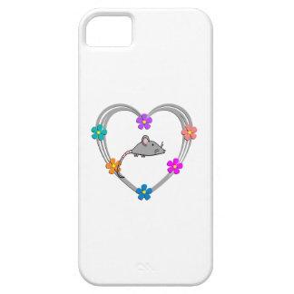 Corazón del ratón funda para iPhone 5 barely there