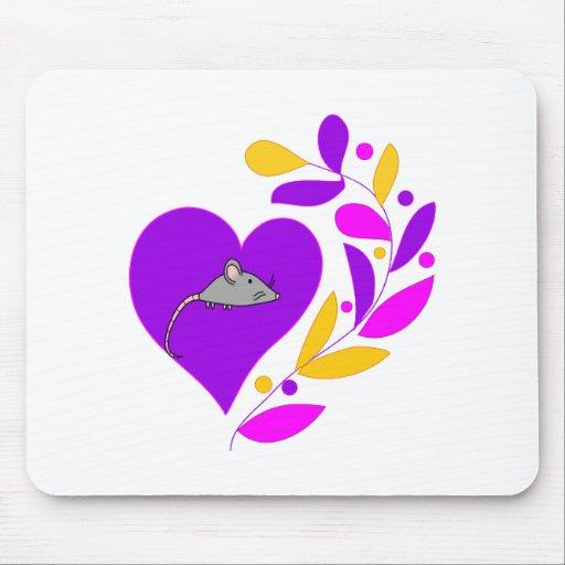 Corazón del ratón tapetes de ratones