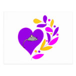 Corazón del ratón tarjetas postales
