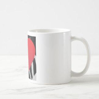 Corazón del relámpago taza