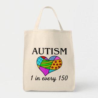 Corazón del remiendo del autismo bolsa de mano