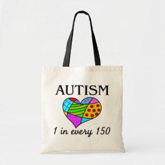 Corazón del remiendo del autismo bolsa
