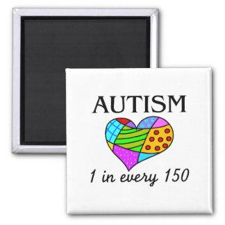 Corazón del remiendo del autismo imán