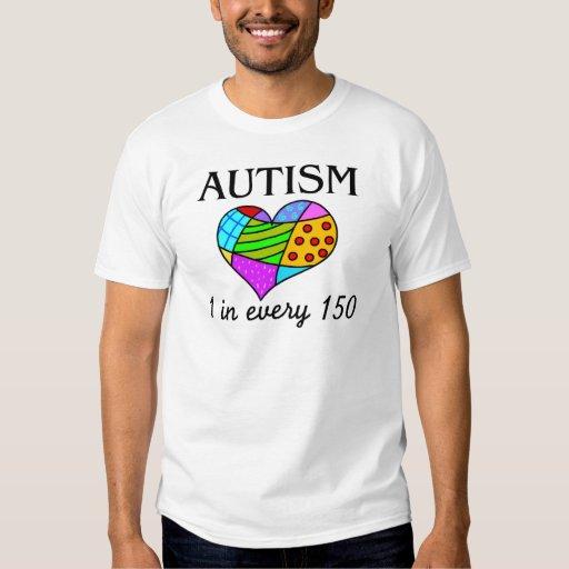 Corazón del remiendo del autismo playera