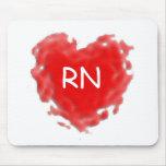 Corazón del RN Alfombrillas De Ratones