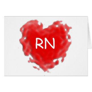 Corazón del RN Tarjeta De Felicitación