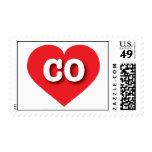Corazón del rojo de Colorado CO Franqueo
