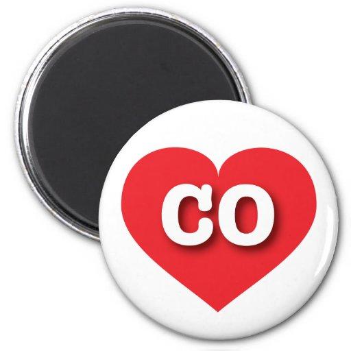 Corazón del rojo de Colorado CO Imán