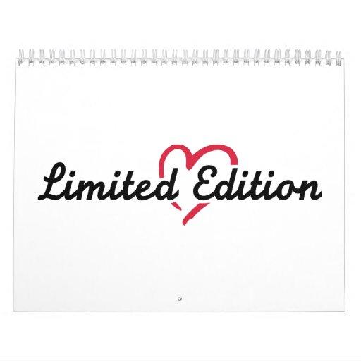 Corazón del rojo de la edición limitada calendario