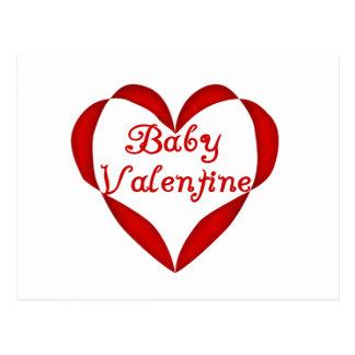 Corazón del rojo de la tarjeta del día de San Vale Tarjeta Postal