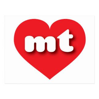 Corazón del rojo de Montana mt Tarjeta Postal