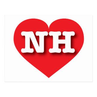 Corazón del rojo de New Hampshire NH Postales