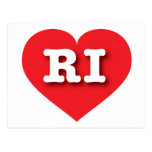 Corazón del rojo de Rhode Island RI Tarjetas Postales