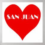 Corazón del rojo de San Juan