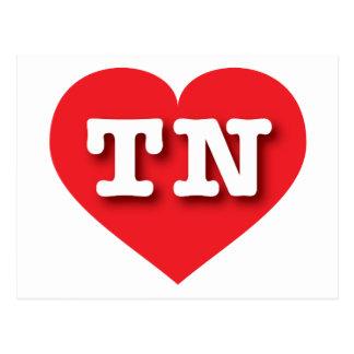 Corazón del rojo de Tennessee TN Tarjeta Postal