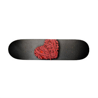 Corazón del rojo de Warrpaed Patin Personalizado