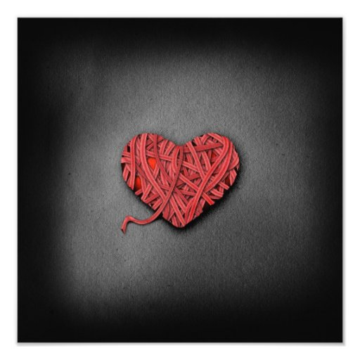 Corazón del rojo de Warrpaed Impresiones Fotograficas