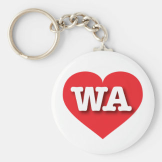Corazón del rojo de Washington WA Llavero Personalizado