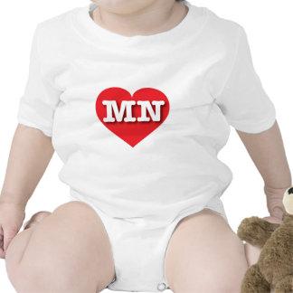 Corazón del rojo del manganeso de Minnesota Traje De Bebé