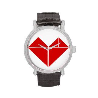 corazón del rompecabezas chino relojes de pulsera
