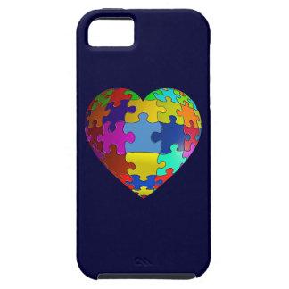 Corazón del rompecabezas de la conciencia del iPhone 5 protector