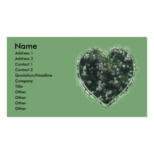 Corazón del rosa blanco tarjeta personal