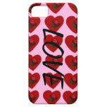 Corazón del rosa iPhone 5 protectores