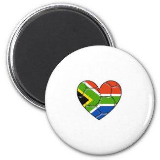 Corazón del SA, l fútbol del amor, Suráfrica Imán Redondo 5 Cm