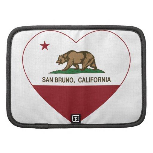 corazón del san Bruno de la bandera de California Planificadores