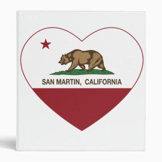 """corazón del san Martin de la bandera de California Carpeta 1"""""""