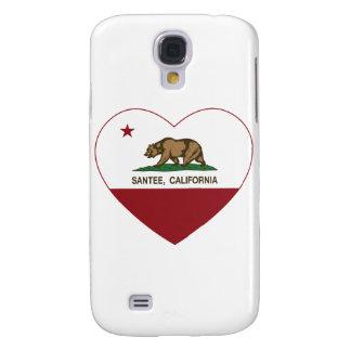 corazón del santee de la bandera de California
