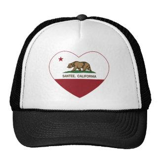 corazón del santee de la bandera de California Gorra