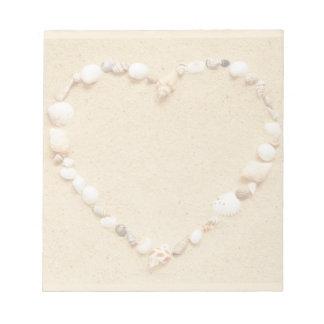 Corazón del Seashell Libretas Para Notas